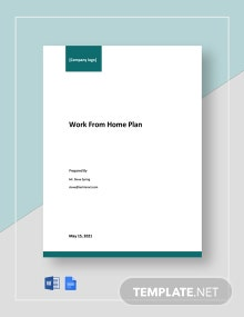 Free Simple Work From Home Plan Template