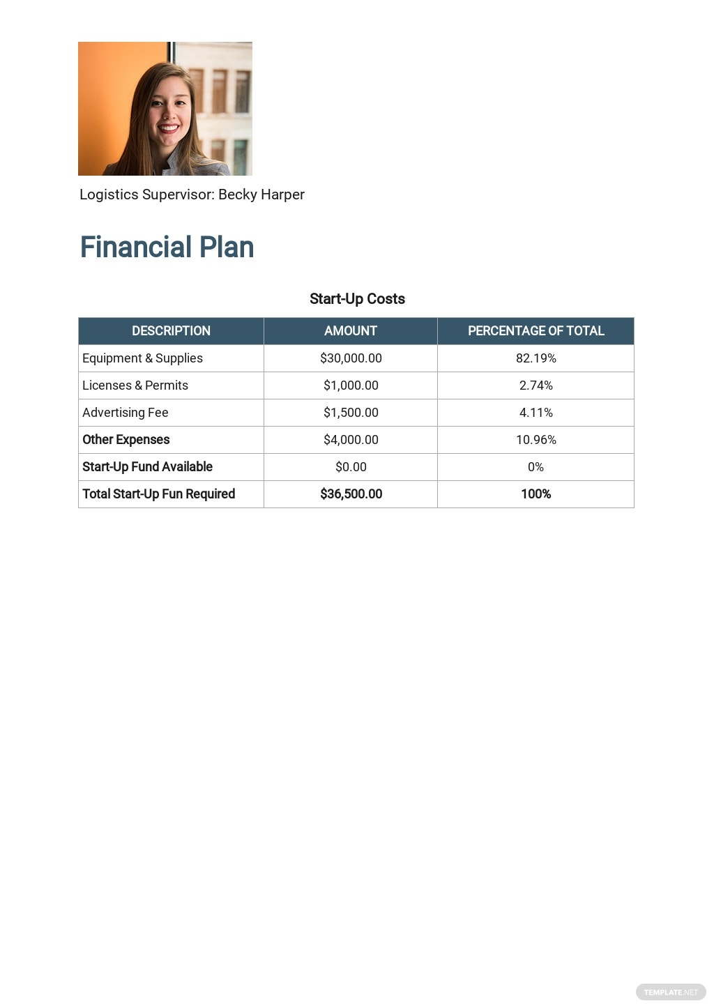 Free Sample Work From Home Business Plan Template 6.jpe