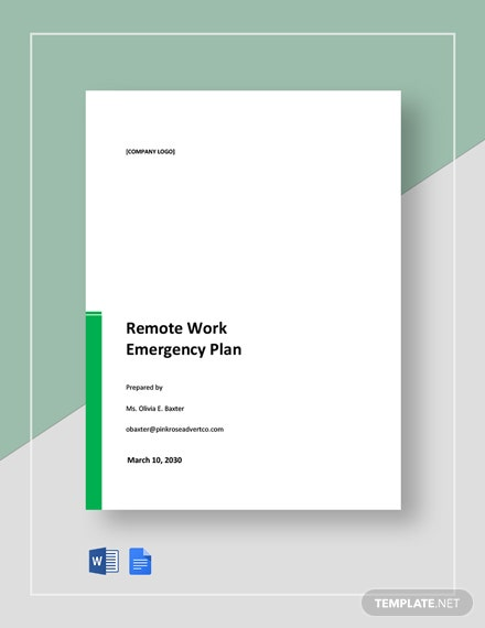 Remote Work Emergency Plan Template