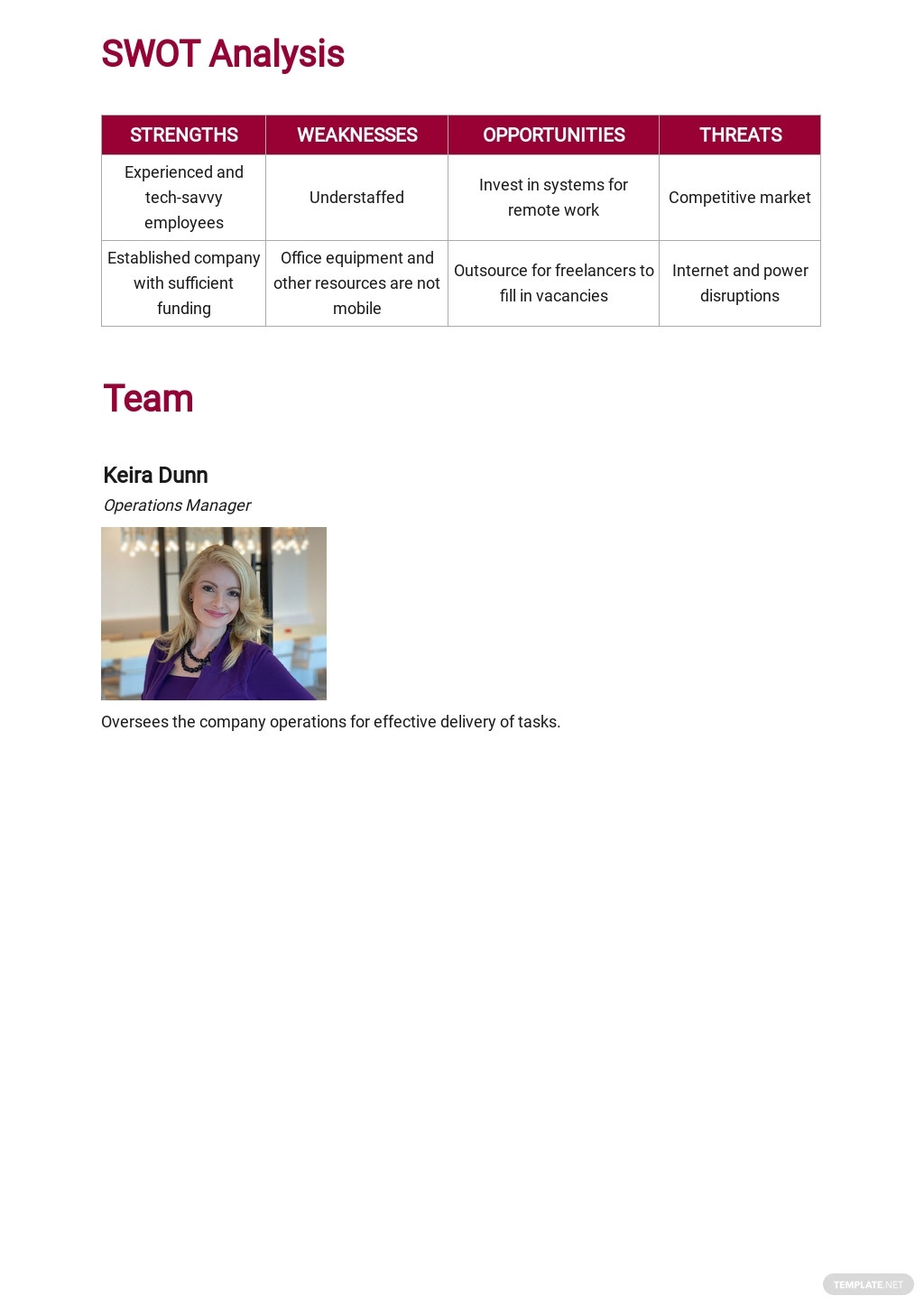 Work From Home Contingency Plan Template 2.jpe