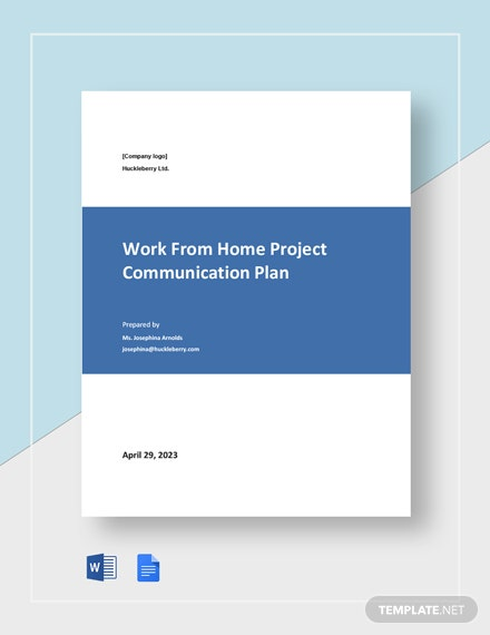 Work From Home Project Communication Plan