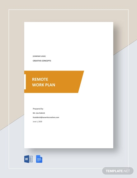 Remote Work Plan Template