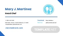 Free Simple Work From Home Business Card Template