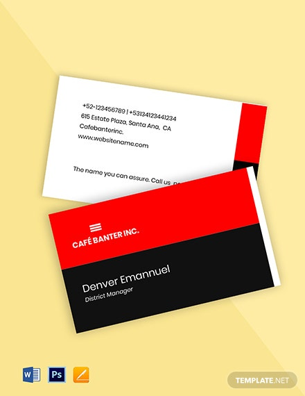 Creative Work From Home Business Card Template