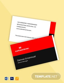 Free Creative Work From Home Business Card Template
