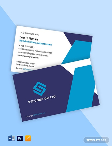 Modern Work From Home Business Card Template