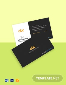 Free Elegant Work From Home Business Card Template