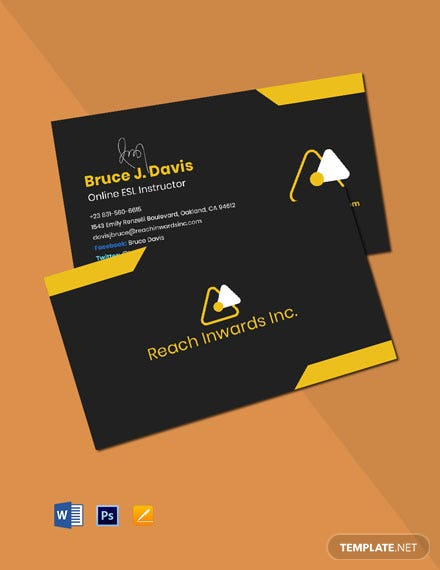 Employee Work From Home Business Card Template