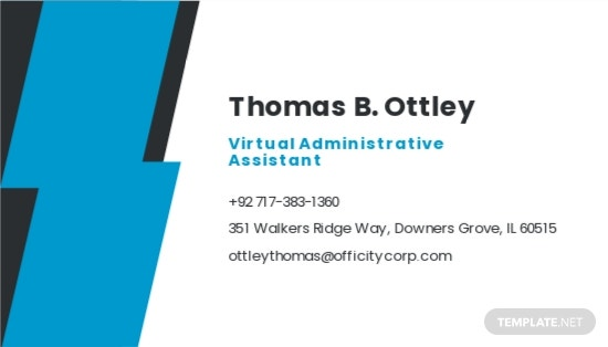 Work From Home Job Business Card Template 1.jpe