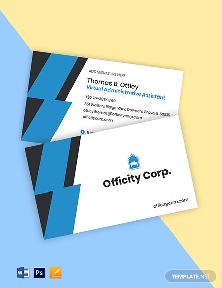 Work From Home Job Business Card Template