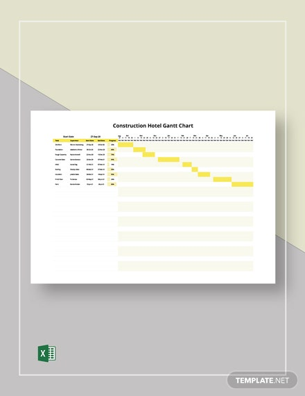 Construction Hotel Gantt Chart