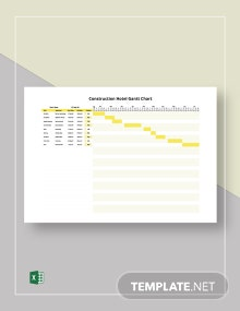Construction Hotel Gantt Chart Template