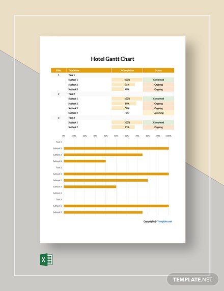 Free Example Hotel Gantt Chart Template