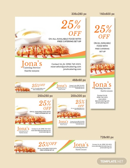 Free Catering Service Ads Banner Template