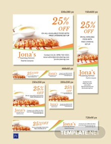 Catering Service Ads Banner Template