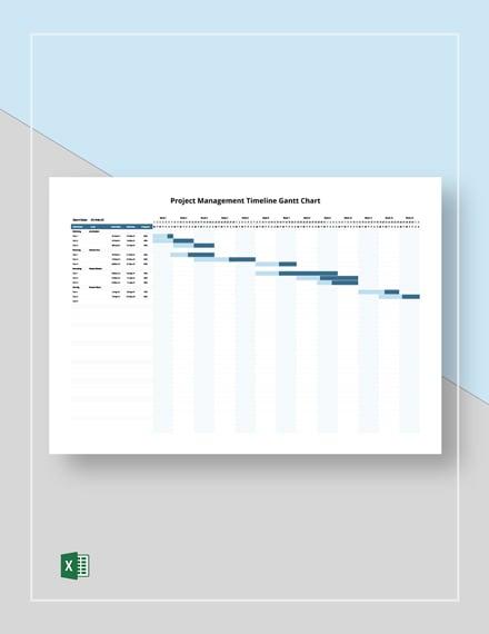 Project Management Timeline Gantt Chart Template