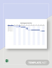 Sales Management Gantt Chart Template