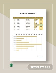 Free Sample Workflow Gantt Chart Template