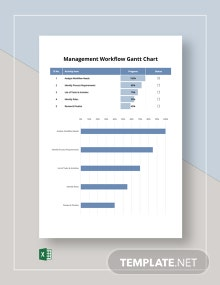 Management Workflow Gantt Chart Template
