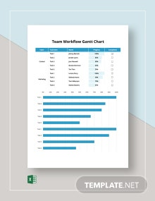 Team Workflow Gantt Chart Template