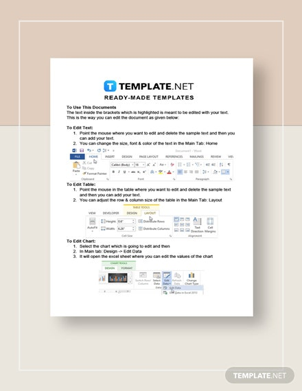 Work From Home Notice Letter Instructions