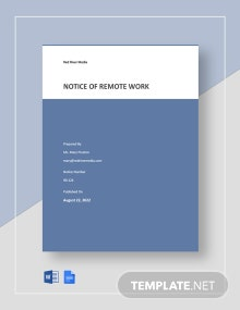 Notice of Remote Work Template