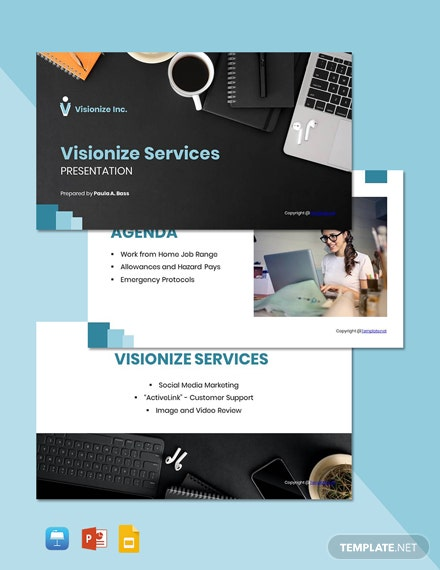Free Sample Work From Home Presentation Template