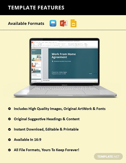 Free Simple Work From Home Presentation Template Format
