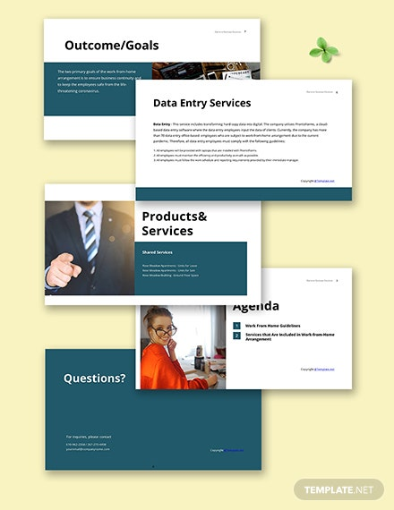Free Simple Work From Home Presentation Template Sample