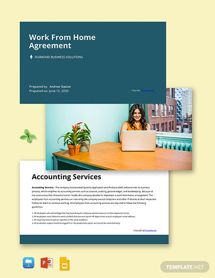Free Simple Work From Home Presentation Template
