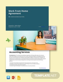Simple Work From Home Presentation Template