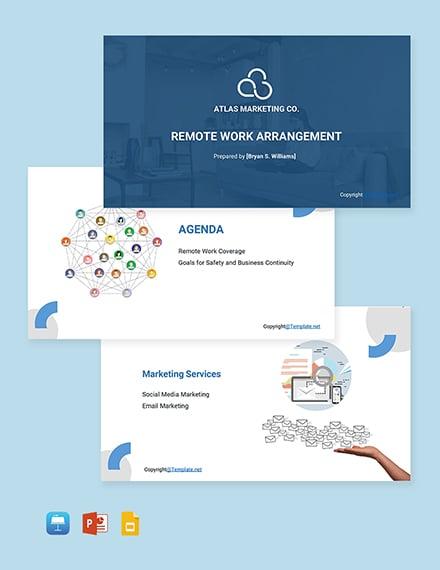 Free Sample Remote Work Presentation Template