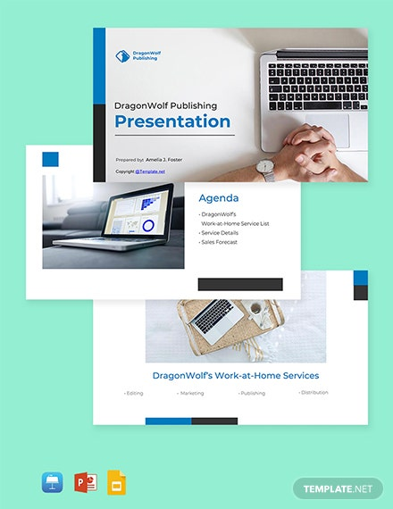 Free Work At Home Presentation Template