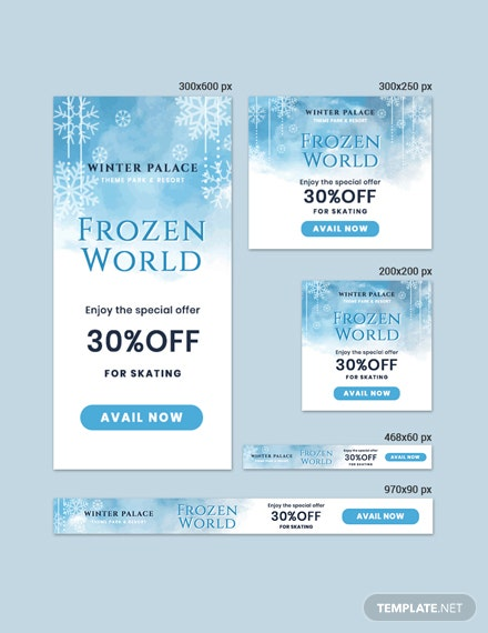 Free Frozen Banner Template
