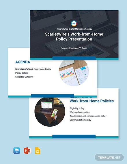 Work From Home Policies Presentation Template Format