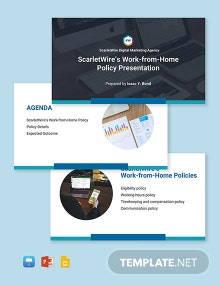 Work From Home Policies Presentation Template