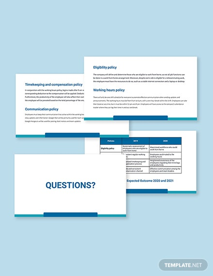 Work From Home Policies Presentation Template Sample