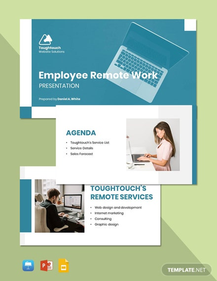 Employee Remote Work Presentation Template