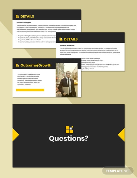 Working from Home Presentation Template format