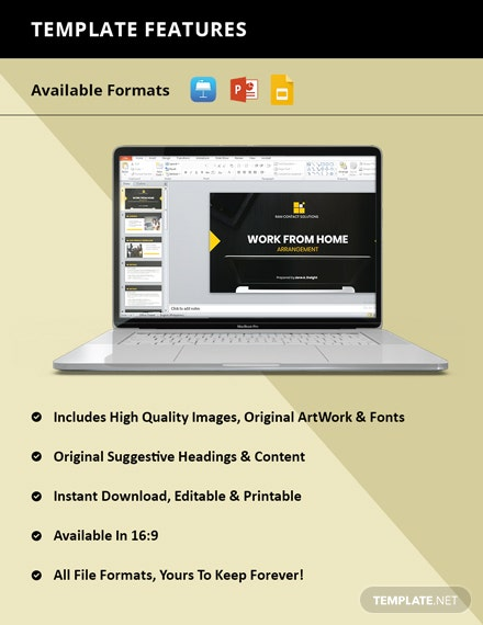 Working from Home Presentation Template instruction