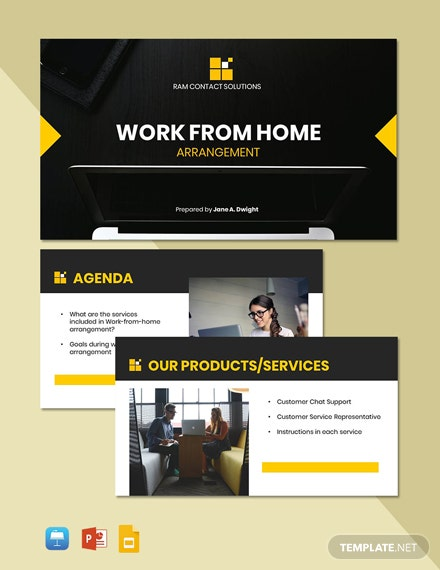 Working from Home Presentation Template