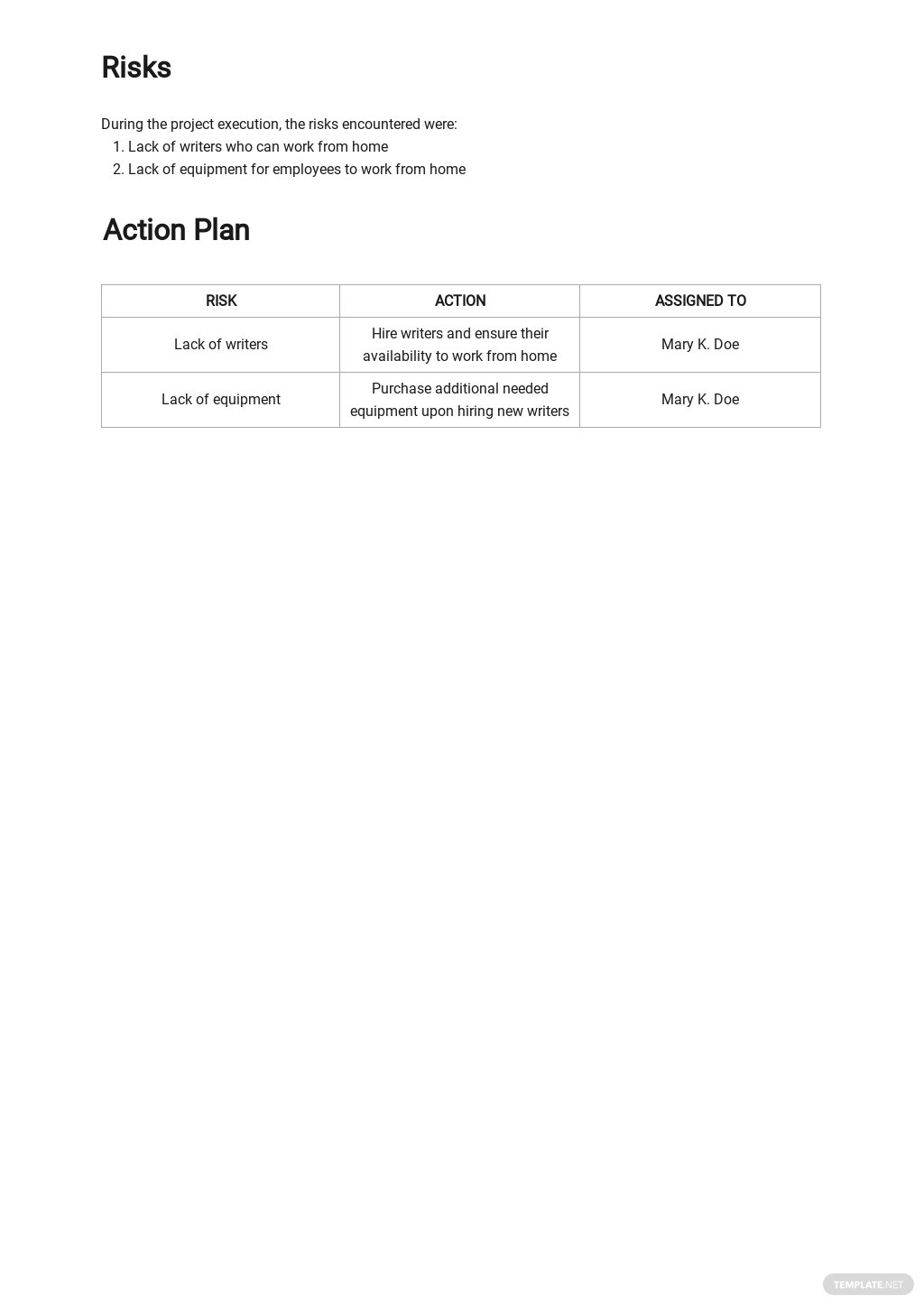 Work From Home Activity Report Template 3.jpe