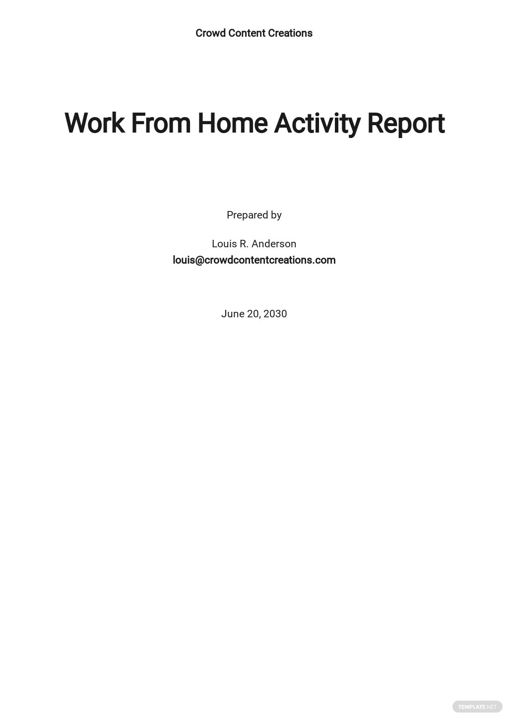Work From Home Activity Report Template.jpe