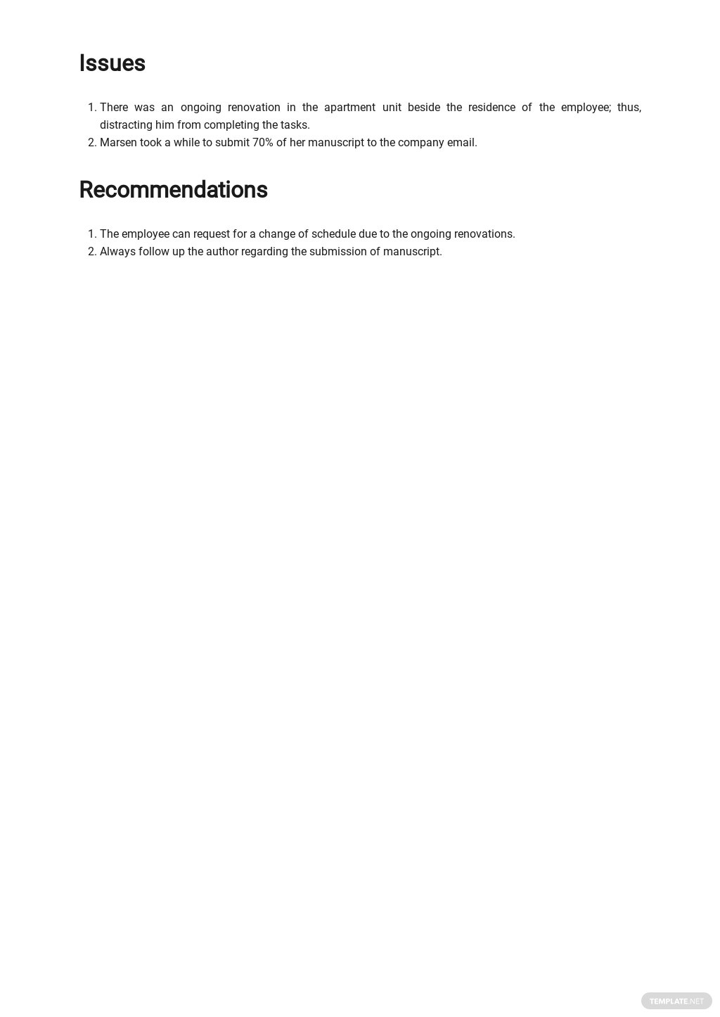 Work From Home Productivity Report Template 2.jpe