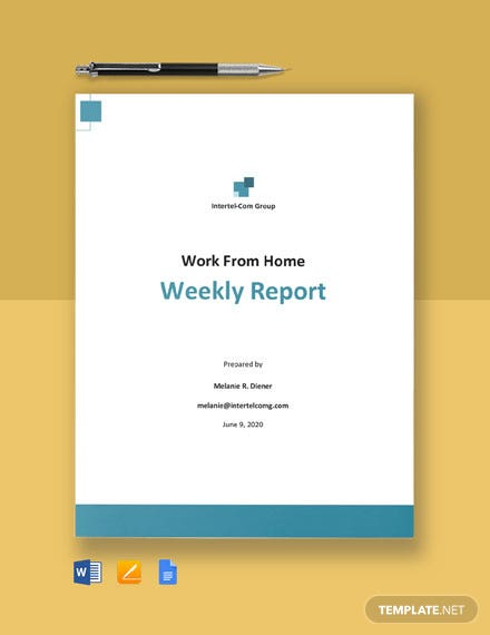 Work From Home Weekly Report Template