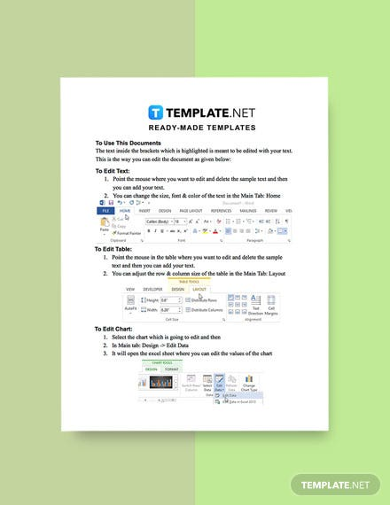 Free Simple Work Report Template instruction