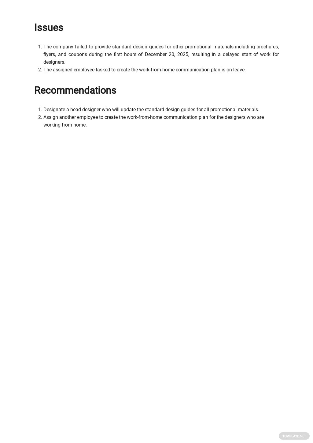 Free Work From Home Report Template 2.jpe