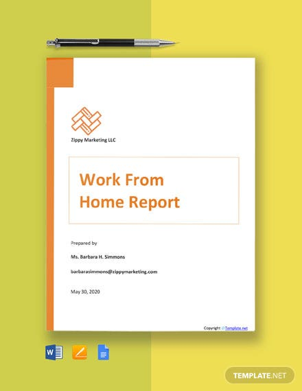 Free Work From Home Report Template