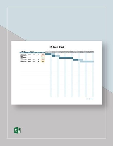Free Sample HR Gantt Chart Template
