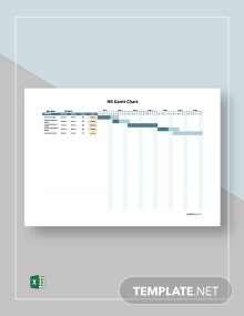 Free Sample HR Gantt Chart Template